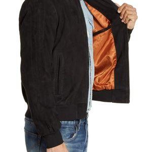 John Varvatos Jackets & Coats - Brand New John Varvatos Suede Bomber Jacket